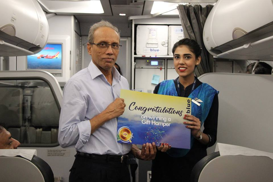 Airblue Lipton Welcoming Summers With A Lucky Draw Activity For Pengers To Distribute Mega Prizes Like Electric Kettles Utility Items 32 Inches Leds