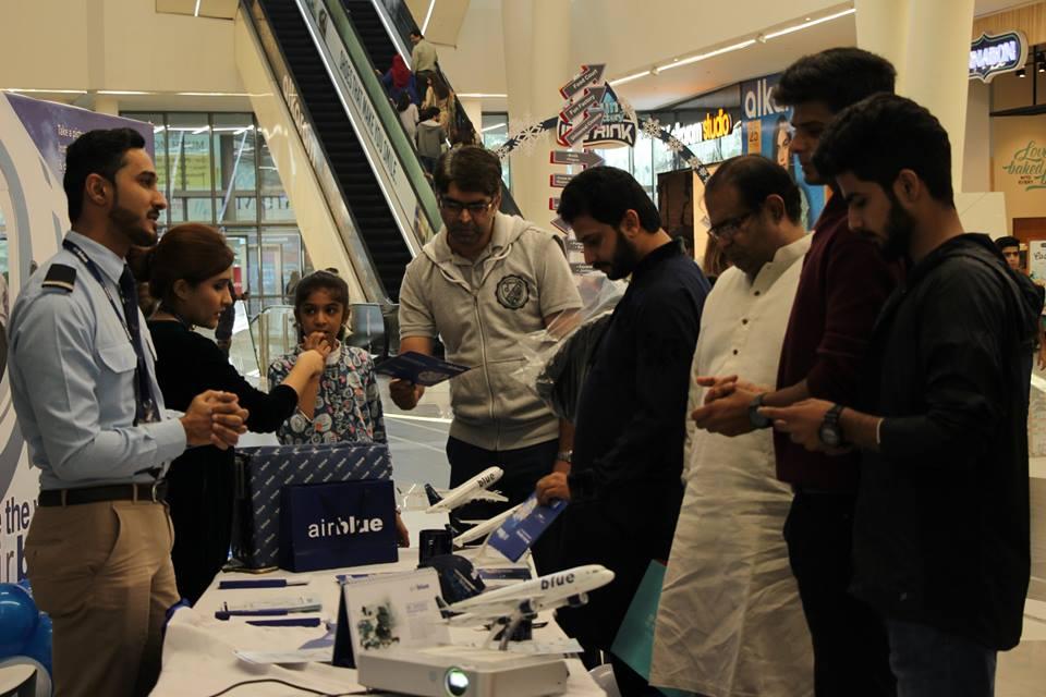 Airblue Lands At Emporium Mall